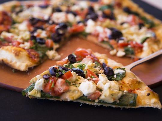 Mediterranean pizza from Cucina Tagliani in Glendale.