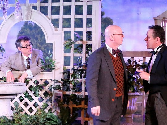 """A scene from """"Jeeves in Bloom"""" at NC Stage Co."""