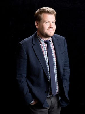 """Comic actor James Corden, star of """"Into The Woods"""" at the Waldorf Astoria Hotel in New York City on Nov. 23, 2014. He admits to being a big fan of boy bands."""