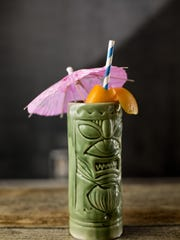 "The ""Cobra's Fang"" is made with three types of rum."