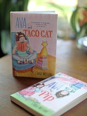 """Carol Weston is book author aimed at tween and teen girls. """"Ava and Taco Cat,"""" is her latest book seen at her home in Armonk on May 29, 2015."""