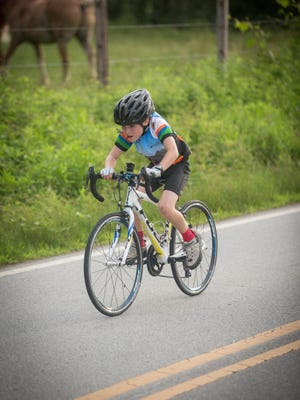 Thompson Jones of South Asheville competes in the Lung Buster Time Trial series in Etowah.