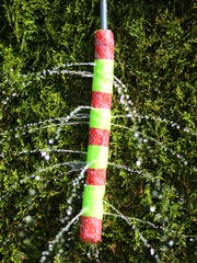 Pool noodles fit right onto a standard hose and create a great sprinkler.