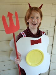 This punny Deviled Egg costume is quick and easy to make.