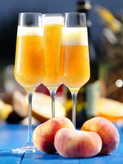 A Bellini can be made with peach and raspberry flavors.
