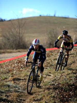 Participants race in the Elite Men's class in the N.C. Cyclocross Series Finals last year on the Biltmore Estate in Asheville. The USA Cyclilng Cyclo-Cross National Championships are taking place through Sunday on the Estate.