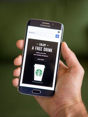 A Starbucks ad on an Android phone.