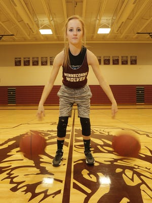 Senior Morgan Horn has followed in the footsteps of older brother Zach in developing into a standout shooter at Winneconne