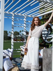 Darby Stanchfield in the Tea House designed by Christopher Kennedy for Pure Leaf Tea House Collection