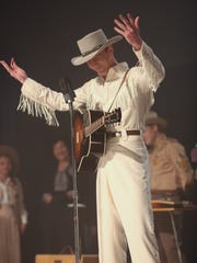 "Tom Hiddleston as country singer Hank Williams in ""I Saw the Light."""