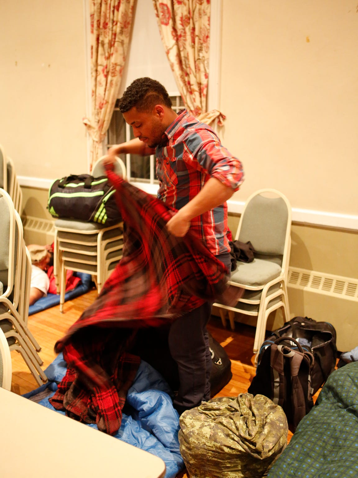 John Joham, 31, has been living in the temporary winter