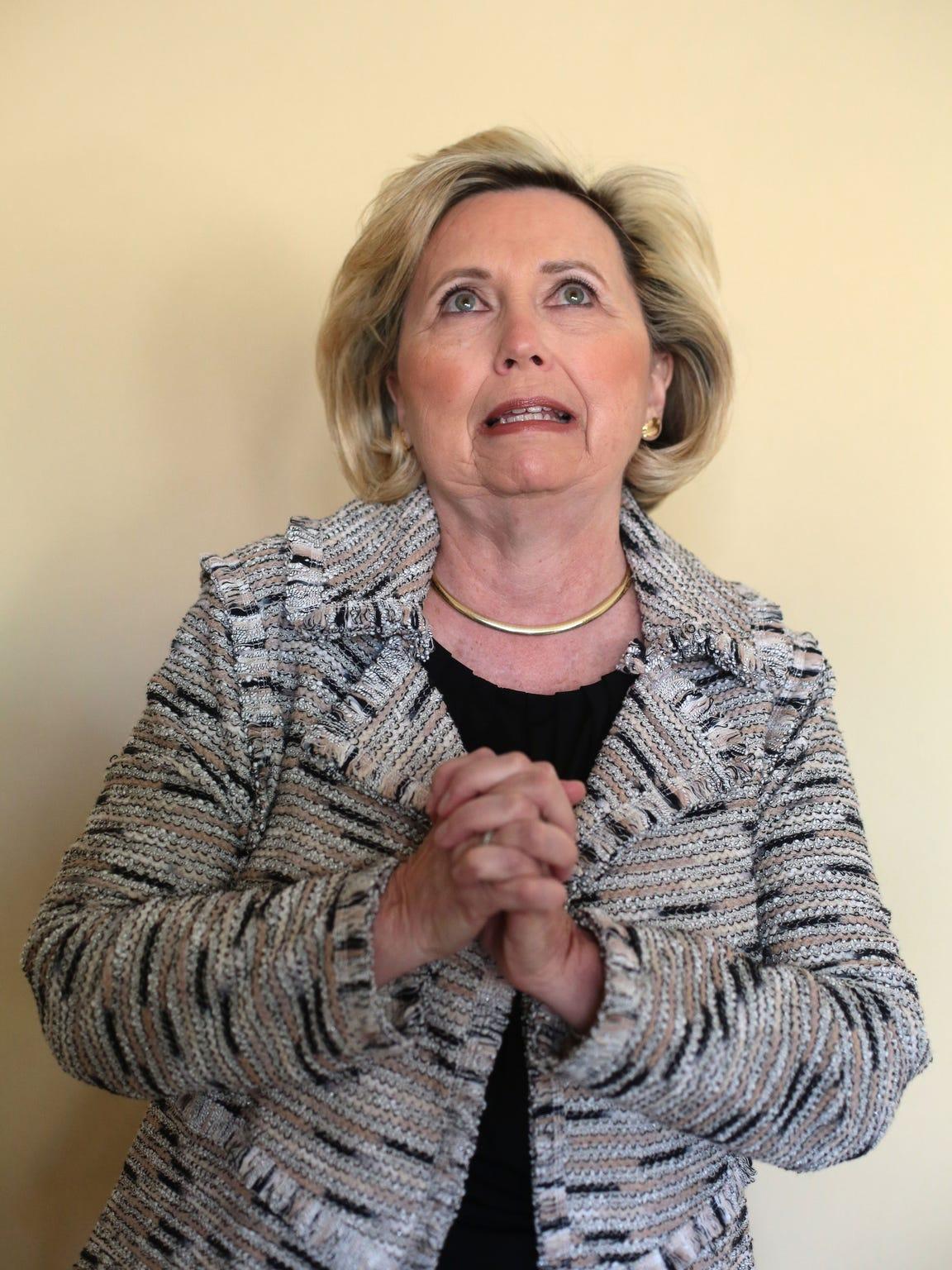 Teresa Barnwell, of Palm Desert, has been doing Hillary