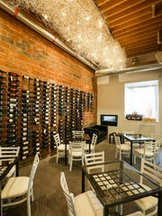 Wine room/cantina for the Ames-based +39 opened at 1430 Locust Street in Des Moines, shown here Wednesday April 20, 2016. The restaurant has a bar, market, little lounge and open kitchen.