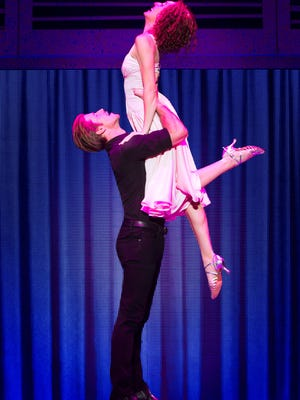 Christopher Tierney (Johnny) and Rachel Boone (Baby) in the North American tour of 'Dirty Dancing.'