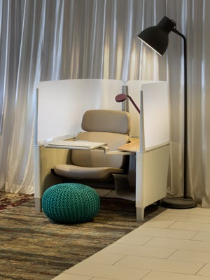 Crowne Plaza's public spaces will have flexible work areas.