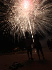 A scene from the 2016 Fourth of July fireworks show