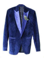"""Jonathon Raley wore this blue blazer to his wedding. """"I ordered it online and just sent my measurements, but I didn't know what to expect,"""" Raley said. """"When it arrived, it fit me like a glove."""" July 5, 2016"""