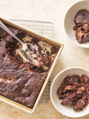 """Chocolate Pudding Cake from """"Naturally Sweet."""""""