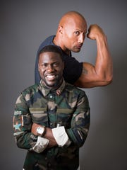 Kevin Hart and The Rock promote their film, 'Central