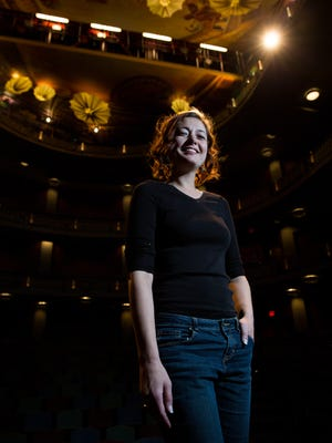 Megan McQueen, a faculty member of the New Mexico State University Department of Theater and co-founder of Scaffolding Theatre Company, in the The Mark and Stephanie Medoff Theatre, Friday, January 6, 2017.