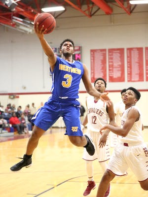 Westview's Ty Kelly goes up for a layup against Crockett County on Tuesday.