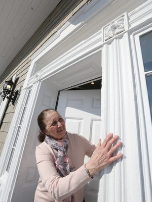 Orangetown historian Mary Cardenas at the Seth House, which has been restored as a recreation annex at The Club, a senior apartment complex in Pearl River Feb. 15, 2017.