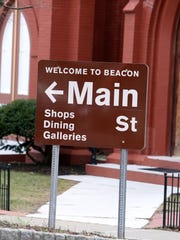 A sign for Main Street in Beacon, Feb. 26, 2017.