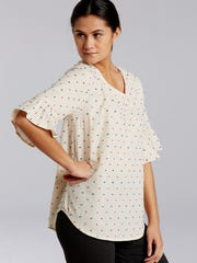 Linen/Swiss Cotton dust ruffle cuff for $88 by Betsy