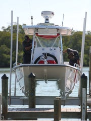 A newly-completed  launch keeps the Bonita Springs Fire Control and Rescue boat out of the water but ready to go at a moment's notice