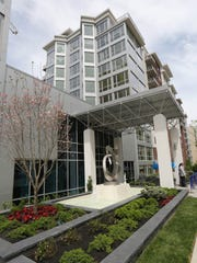 The exterior of the new rental apartment building,