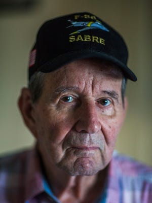 Vietnam War veteran Roger Richards, 84, in his East Naples home on Thursday, June 23, 2017. Richards served 14 years as a pilot in the Air Force and then worked 27 years for American Airlines.