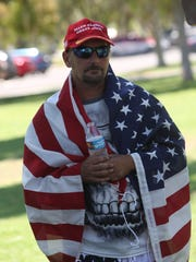 Charles McDonald attends the #July4Trump rally at Ruth Hardy Park in Palm Springs on July 4, 2017.