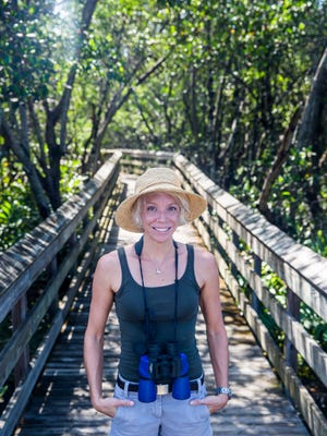 Wildlife researcher Kate Pagan is pictured at River Park in Bonita Springs on Friday, Aug. 18, 2017.