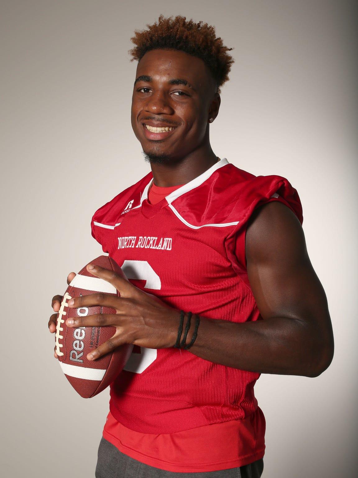Jayden Cook, a North Rockland High School receiver/