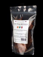 "A bag of ""Naples Own"" Top Dog Kitchen's USDA Chicken"