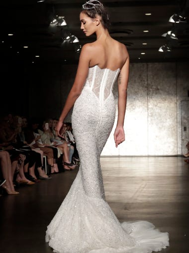 The collection of Inbal Dror is modeled during Bridal