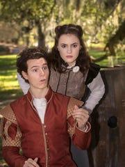 Blake Lafita (Rosencrantz) and Franci Holland (Guildenstern)