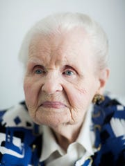 Mildred Lewis, 109, in her Estero home on Monday, Dec.