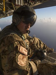 "Master Sgt. Bob Kurzen, HC-130P/N ""King"" loadmaster is part of concerted rescue effort of approximately 80 wing personnel from the 920th Rescue Wing who rescued two German citizens in distress at sea July 7, 2017 and into July 8. The victim's vessel caught fire approximately 500 nautical miles off the east coast of southern Florida. At the request of the U.S. Coast Guard's Seventh District in Miami, the 920th RQW was alerted by the Air Force Rescue Coordination Center at Tyndall Air Force Base, Florida, to assist in the long-range search and rescue. Approximately 80 wing Citizen Airmen and four wing aircraft helped execute the rescue mission to include, maintenance, operations and support personnel."