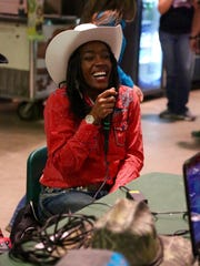 Michigan State sophomore, Khalilah Smith, laughs with