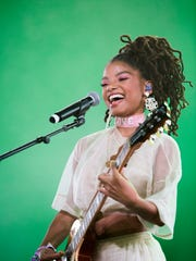 Chloe x Halle perform on the Mojave stage during weekend two of the 2018 Coachella Valley Music and Arts Festival in Indio, California. Saturday 20, 2018