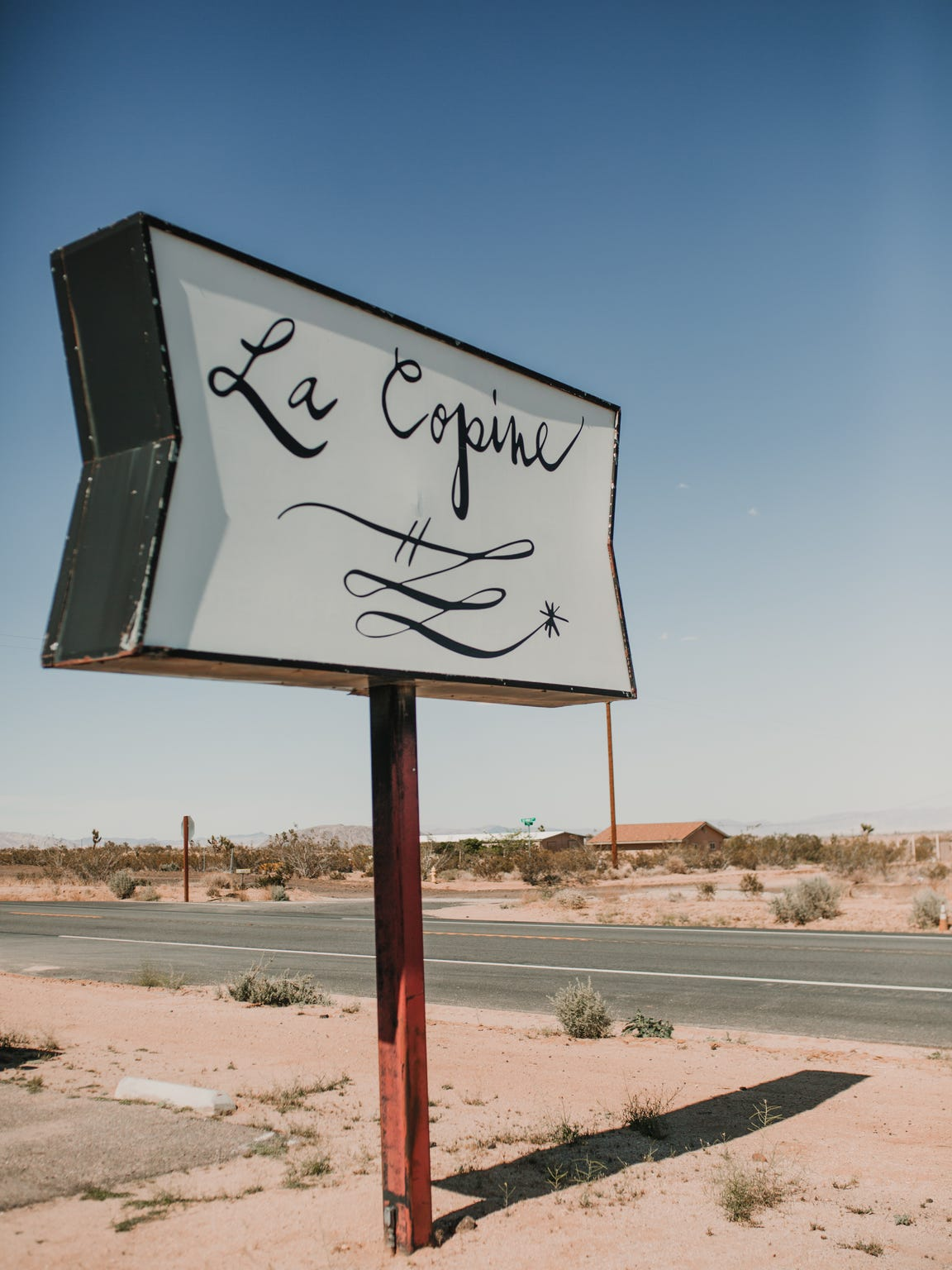 The sign outside La Copine restaurant in Flamingo Heights