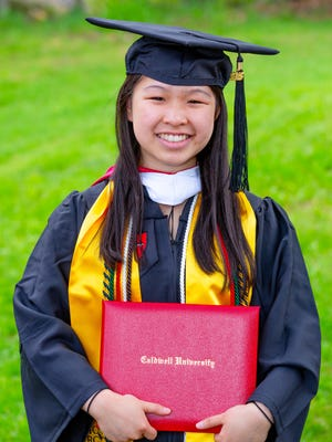 Michelle Eng of East Brunswick receives her bachelor of arts degree in biology from Caldwell University on May 20. She received the Caldwell Excellence in Leadership award on honors convocation April 25.