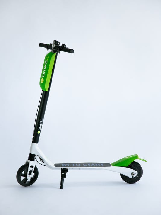 A Lime scooter