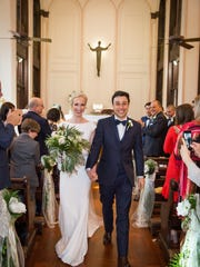 Sacred Heart chapel in Grand Coteau was the setting for the wedding ceremony uniting Katharine Michot and Raffaele Marino on April 28.