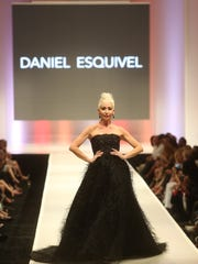 The work of Daniel Esquivel on the opening day of Fashion Week at El Paseo.