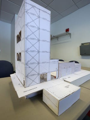 A model of Anellotech's proposed expansion at their building on the Pfizer campus in Pearl River.