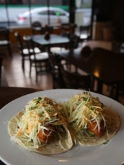 Fish tacos are served at Maura's Kitchen in Nyack on