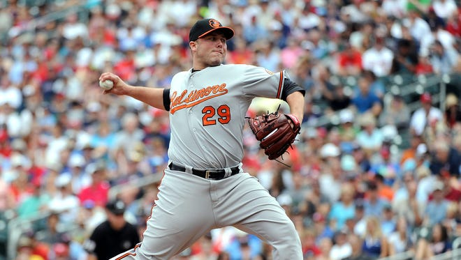 Tommy Hunter 2 -2 with a 3.63 ERA in 39 appearances for Baltimore this season.
