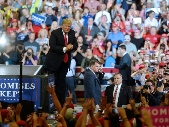 President Donald Trump visits Great Falls for a campaign